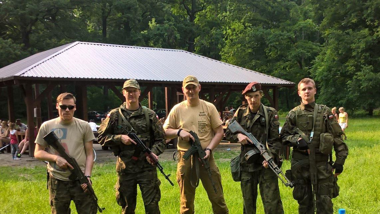 Druhowie PDS, od lewej: dh Jędrzej Wojtkowiak, dh Bogusław Burmistrzak, Komendant Marek Kasperski, dh Kamil Klimaszewski, dh Mateusz Domarecki