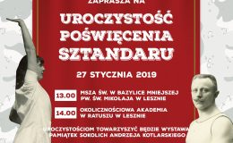 """Uroczystość poświęcenia sztandaru TG """"Sokół"""" w Lesznie"""